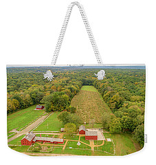 Weekender Tote Bag featuring the photograph Nathan Hale Homestead by Michael Hughes