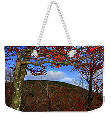 Weekender Tote Bag featuring the photograph Nature Frames Mount Greylock's Tower by Raymond Salani III