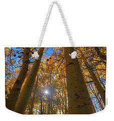 Weekender Tote Bag featuring the photograph Natures Gold by Tassanee Angiolillo