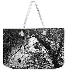 Weekender Tote Bag featuring the photograph Naturescape Black And White by Rachel Hannah