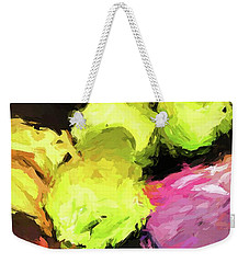 Neon Apples With Bananas Weekender Tote Bag