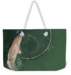 Netting A Big Redfish Weekender Tote Bag