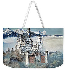 Weekender Tote Bag featuring the digital art Neuschwanstein Castle 2 by Pennie McCracken