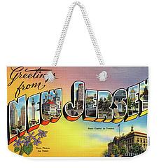 New Jersey Greetings - Version 2 Weekender Tote Bag