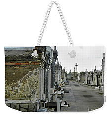 Weekender Tote Bag featuring the photograph New Orleans Cemetery by Rosanne Licciardi