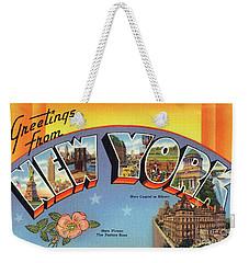 New York Greetings - Version 4 Weekender Tote Bag