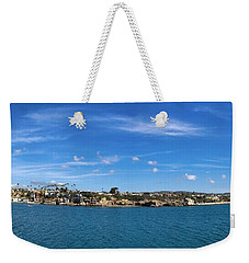 Weekender Tote Bag featuring the photograph Newport Harbor Panorama  by Brian Eberly