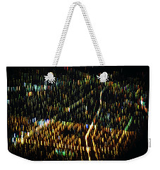 Weekender Tote Bag featuring the photograph Night Flight by Melissa Lane