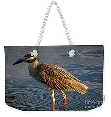 Night Heron Dribble Weekender Tote Bag