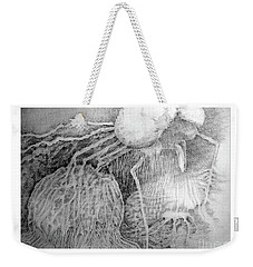 Weekender Tote Bag featuring the drawing Nightmare by Rosanne Licciardi