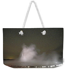 Nighttime At Great Fountain Geyser Weekender Tote Bag