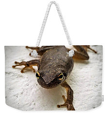 Weekender Tote Bag featuring the photograph Ninja Frog by Vincent Autenrieb
