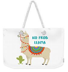 No Prob Llama - Baby Room Nursery Art Poster Print Weekender Tote Bag