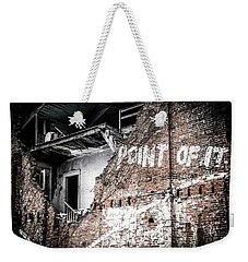 Weekender Tote Bag featuring the photograph No Return by Melissa Lane