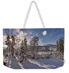 Weekender Tote Bag featuring the photograph No Time Like Snowtime by Edmund Nagele
