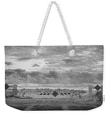Weekender Tote Bag featuring the photograph No Vehicles by Steve Stanger