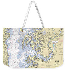 Chesapeake Bay, Cove Point To Sandy Point Nautical Chart 12263 Weekender Tote Bag