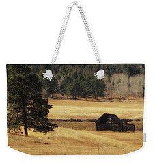 Weekender Tote Bag featuring the photograph Noble Meadow Barn by Lukas Miller