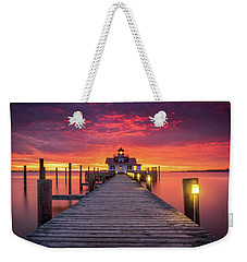 North Carolina Outer Banks Manteo Lighthouse Obx Nc Weekender Tote Bag