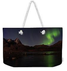 Northern Lights Aurora Borealis In Norway Weekender Tote Bag