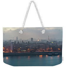 Novi Sad Night Cityscape Weekender Tote Bag