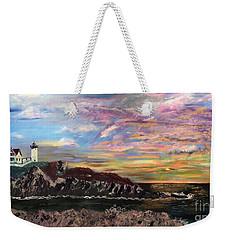 Nubble At Sunrise Weekender Tote Bag