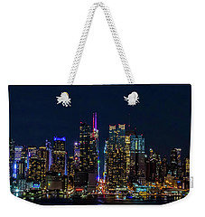 Weekender Tote Bag featuring the photograph Nyc At Night by Francisco Gomez