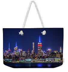 Nyc At The Blue Hour Weekender Tote Bag
