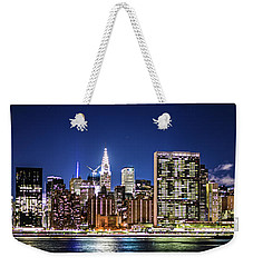 Nyc Nightshine Weekender Tote Bag