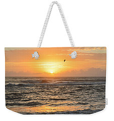 Weekender Tote Bag featuring the photograph Obx Sunrise 9/17/2018 by Barbara Ann Bell