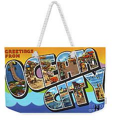 Ocean City Greetings Weekender Tote Bag