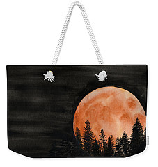 Weekender Tote Bag featuring the painting October 2018 by Betsy Hackett