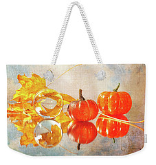 Weekender Tote Bag featuring the photograph October Reflections by Randi Grace Nilsberg