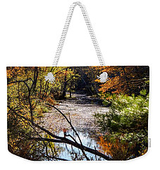Weekender Tote Bag featuring the photograph October Window by Kendall McKernon