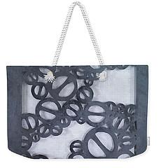 Weekender Tote Bag featuring the mixed media Off Limits - No, No, No, No by Phyllis Howard