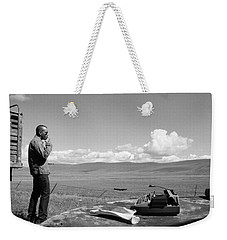 Weekender Tote Bag featuring the photograph Office Of The Poet by Carl Young