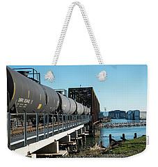 Oil Train Over Swinomish Channel Weekender Tote Bag