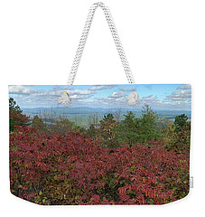Weekender Tote Bag featuring the photograph Oklahoma Scenic Trail  by Robin Maria Pedrero