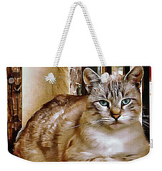 Weekender Tote Bag featuring the photograph Old Blue Eyes by Dorothy Berry-Lound