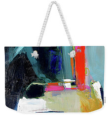Weekender Tote Bag featuring the painting Old Book Store by John Jr Gholson