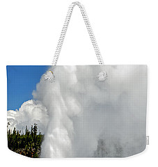Old Faithful With Steam And Vapor Weekender Tote Bag