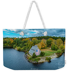 Weekender Tote Bag featuring the photograph Old Glory by Michael Hughes