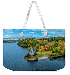Weekender Tote Bag featuring the photograph Old Stone Church by Michael Hughes