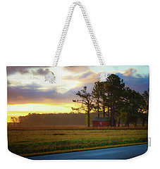 Weekender Tote Bag featuring the photograph Onc Open Road Sunrise by Cindy Lark Hartman