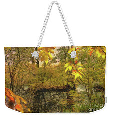 Weekender Tote Bag featuring the photograph Once A Pond A Time by Leigh Kemp