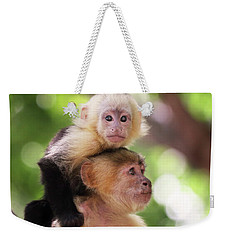 One Of Those Days When You Just Can't Seem To Get The Monkey Off Your Back Weekender Tote Bag