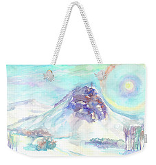 Weekender Tote Bag featuring the painting Optical Phenomenon - Halo by Dobrotsvet Art
