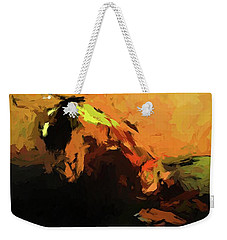 Orange Bull Cat Weekender Tote Bag