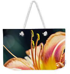 Orange Day Lily Stamen Weekender Tote Bag