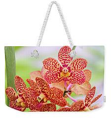 Orange Spotted Orchids Weekender Tote Bag